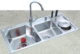 elkay stainless steel kitchen sink with drainboard brushed sinks