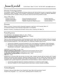 College Student Resume Examples Templates
