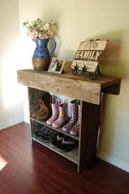Simple Rustic Shoe Rack With Shelf Perfect For Entryway