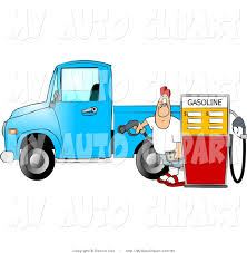 100 Gas In Diesel Truck Clip Art Of A Man At The Station Putting Fuel Into His