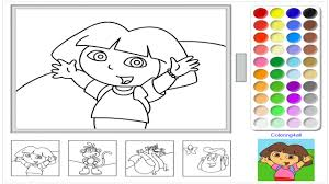 Download Coloring Pages Dora Games The Explorer Online Game