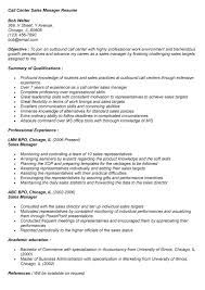 Call Center Manager Resume Examples