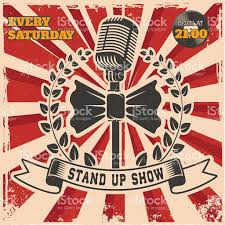 Retro Stand Up Comedy Show Vintage Poster Template Royalty Free