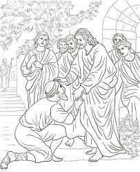 Click To See Printable Version Of Jesus Heals The Leper Coloring Page
