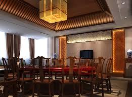 Chinese Restaurant Droplight Design Rendering