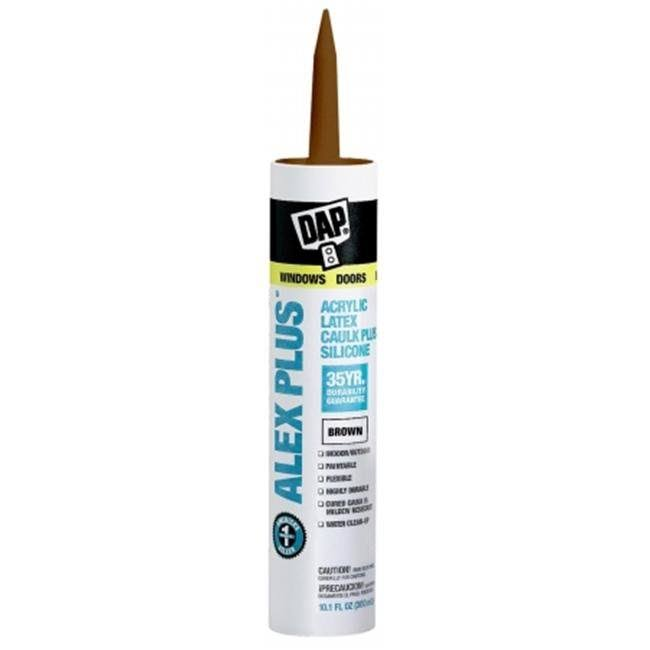 Dap Alex Plus Acrylic Latex Caulk With Silicone - Brown
