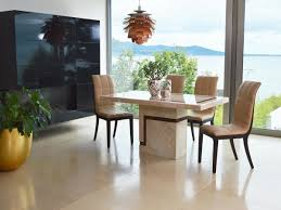 Filippo 120cm Marble Dining Table With 4 Chairs Fil 1201 1114