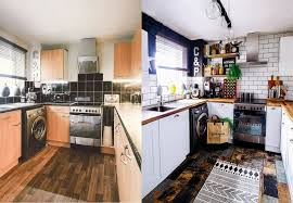 Kitchen Before And After Tiles From Tile Mountain Doors Door Workshop