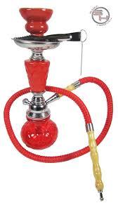 New Red Hookah Shisha Nargila Smoke Pipe Vase Hose Bowl Set Huka