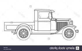 100 Antique Truck Stock Photo An Early Old Fashioned Pickup Over A White