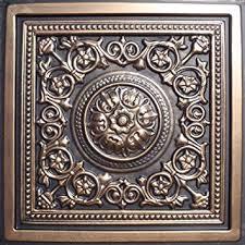 amazon com majesty antique bronze black 24x24 pvc ceiling tile