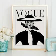 FASHION ILLUSTRATION Vogue Cover Poster MagazineWall Art Girls