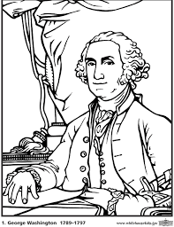 Ideas Of George Washington Coloring Page About Summary