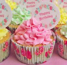 Cake Toppers Birthday Cake Toppers Adult Birthdays Flower Garland Vintage Garland Happy Birthday Cupcake Toppers Cake Toppers & Decorations