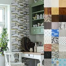 details zu klebefolie möbel tür küche 7 m selbstklebende folie tapete stein holz optik diy