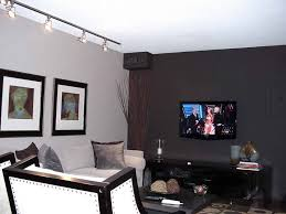 Accent Wall Colors Design Idea For Your Setting Wonderful Interior Family Room With Black And White Ideas Track Ceil