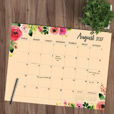 floral academic desk blotter 9781683753698 calendars com