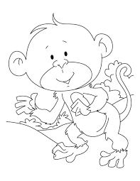 Baby Ape Coloring Pages