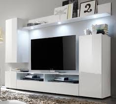 wohnwand weiß hochglanz fernsehschrank wohnzimmer tv hifi