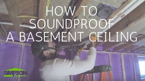 Soundproof Above Drop Ceiling by How To Soundproof A Basement Ceiling Youtube