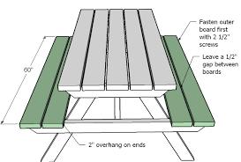 sumptuousness 6 ft picnic table plans 80 for you excellent picnic