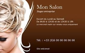 modele carte de visite coiffure a domicile coiffures modernes et