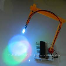 DIY Dazzle Colour Mini Desk Lamp Light Technology Small Table Optoelectronics Educational Gift