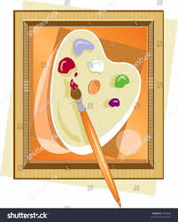 Palette Clipart Brush Pencil And In Color Painters Pallet