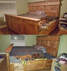 Laguna King Platform Bed With Headboard by King Bed Frame With Full Queen Bed Makes For Extra Room To Place