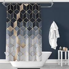 marmor muster bad vorhang wasserdicht dusche real de