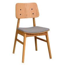 eichenholz stuhl mit polster onan 2er set