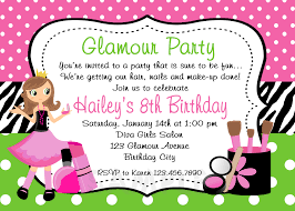 Glamour Birthday Invitation Glamour Party Spa Birthday Party