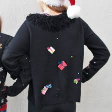sequin christmas gifts shaggy collar ugly holiday sweater the