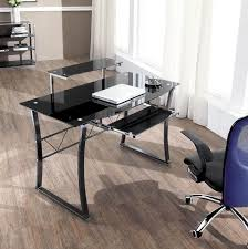 Tempered Glass Computer Desk by Gamma Contemporary Glass Workstation Computer Desk 8 5mm Black