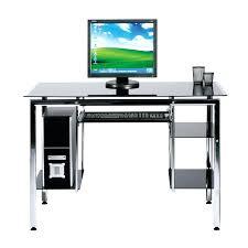 desk small glass and metal computer desk metal corner computer