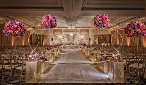 Indian Wedding Ceremony Floral Aisle And Mandap Decor
