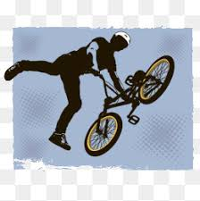 Bmx Sports Clipart Halftone Pattern PNG Image And