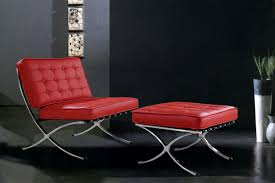Leather Tufted Chair And Ottoman by Furniture Cowhide Leather Chair And Ottoman With Nailhead Trim