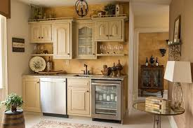 Above Cabinet Decorating Ideas Home Bar Rustic With Wine Lounge Painted Glazed Kitchen Cabinets