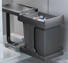 details zu hailo mülleimer küche ausfahrautomatik einbau 40 cm schrank abfalleimer 576616