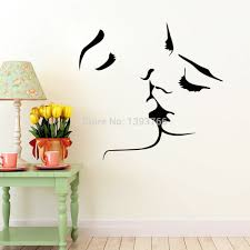Couple Kiss Wall Stickers Home Decor 8468 Wedding Decoration Sticker For Bedroom Decals Mural In From Garden On Aliexpress