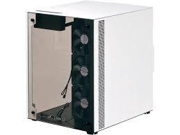 lian li pc o8wbw white with black interior aluminum tempered