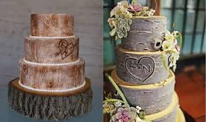 Rustic Wood Wedding Cake