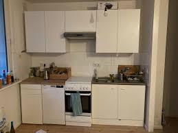 küchenzeile ikea mit massivholz arbeitsplatte buche top zustand