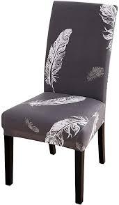 chicsoleil stuhlhussen stuhlbezüge 1 4 6er set stretch esszimmer stuhl husse schonbezug schutzhülle elastische abdeckungen mit modern muster für hotel