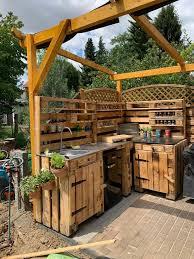 outdoor küche aus europaletten preis auf anfrage in