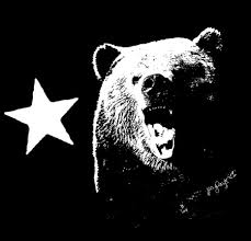 Mommyinboots Black And White California Bear Flag