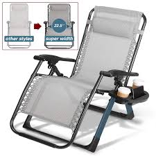 Artist Hand -350LBS Capacity Zero Gravity Heavy Duty Outdoor Folding Lounge  Chairs W/Snack Tray,Lawn Patio Reclining Chairs-XL Size (Extra-Wide Seats) Folding Patio Lounge Chair Brickandwillowco Portable 2in1 Folding Chair Recliner Sleeping Loung Outdoor Sun Loungers Beach Lounge Chairs Adjustable Garden Deck Psychedelic Metal Plastic Cane Recling Foldable Zero Gravity With Pillow Black Sunnydaze Rocking Chaise Headrest Outdoor W Shade Canopy Cup Holder Camping Fishing Arm Rest Amazoncom Set Of 2 Patio
