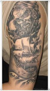 Viking Warrior Tattoo On Left Shoulder