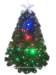 Optic Fiber Christmas Tree LED Lights On The Trees